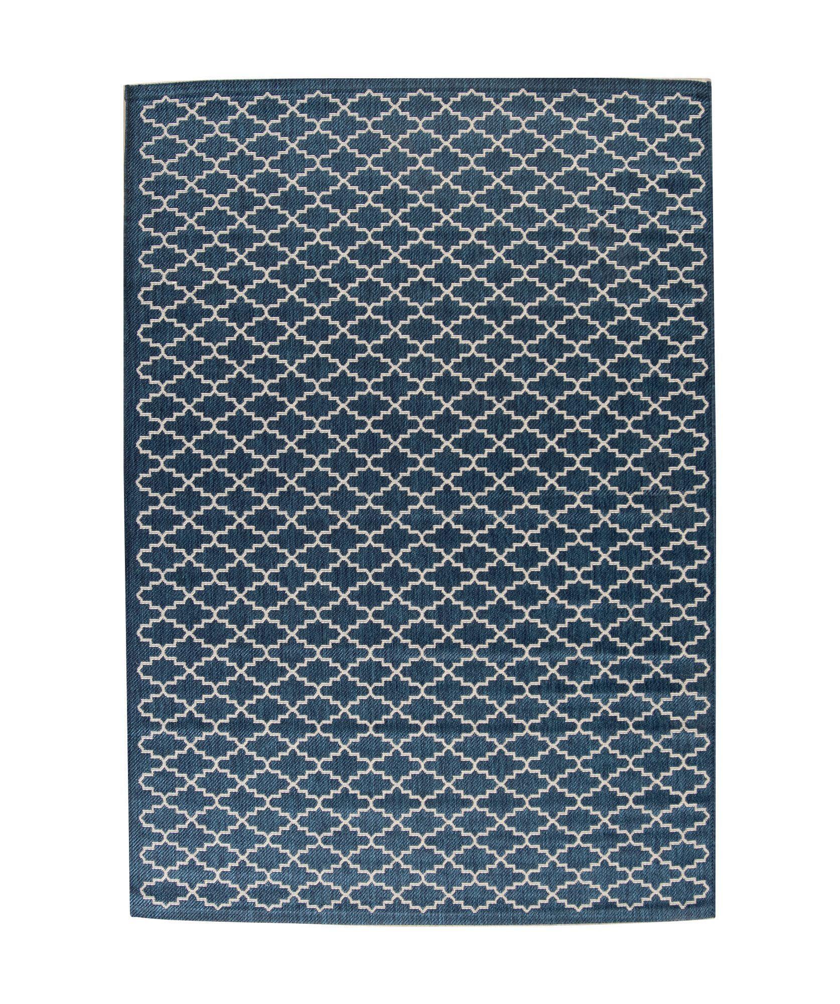Phelps Navy/Beige Indoor/Outdoor Area Rug