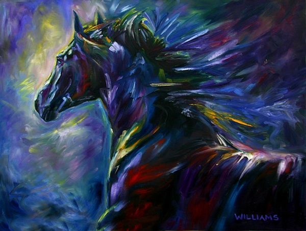 Black Horse - By Equine Artist Diane Williams