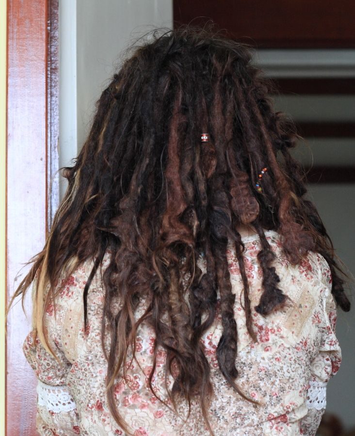 Natural Neglect Freeform Dreadlocks Look A Little Like Mine Do Natural Dreads Dread Hairstyles Natural Dreadlocks