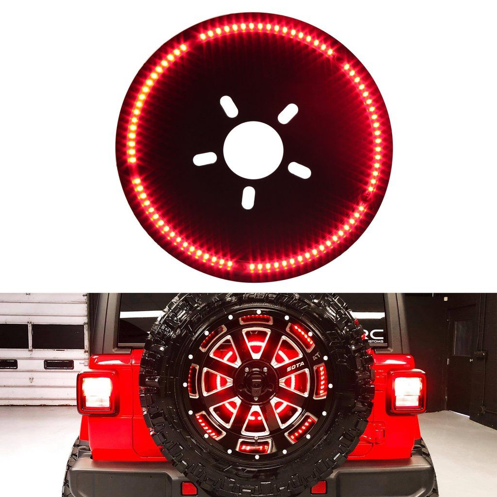 Jeep Wrangler Jl Jlu 3rd Brake Light Led Ring Jeep Wrangler