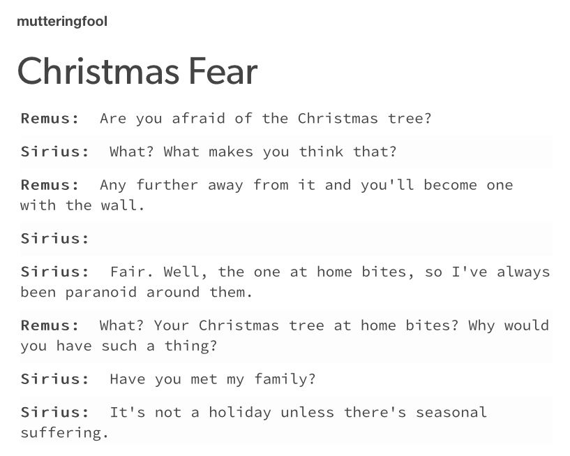 It S Not A Holiday Unless There Is Seasonal Suffering Harry Potter Headcannons Harry Potter Universal Harry Potter Memes