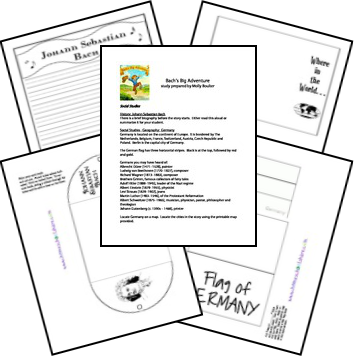 Bachs 's Big Adventure Unit and Printables.. Remember, use