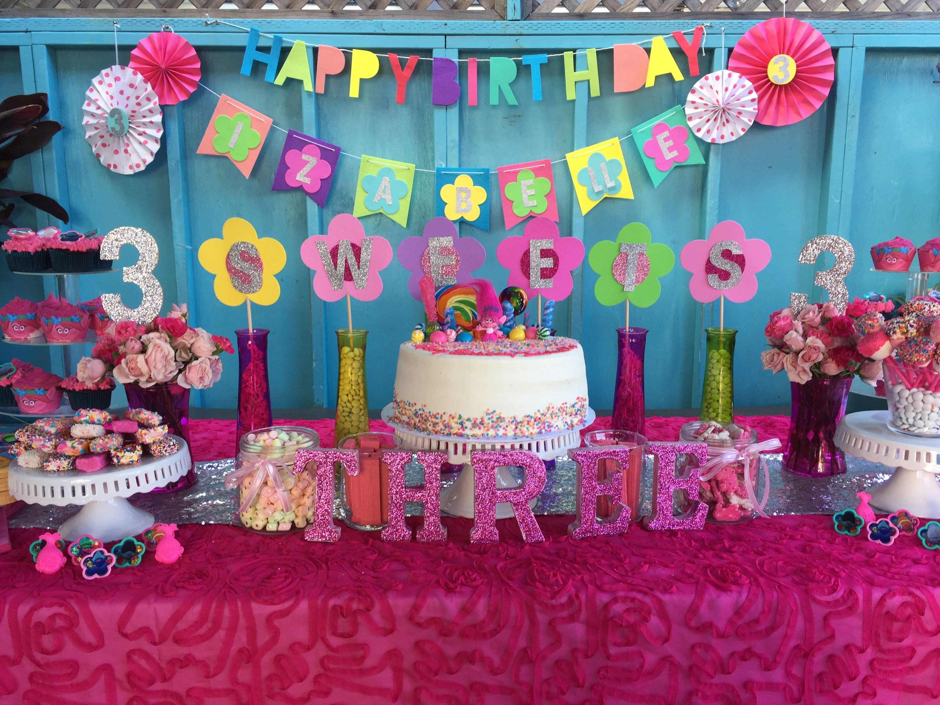 Trolls Princess Poppy Birthday Candy Cake Dessert Table Fall Birthday Birthday Candy Birthday Parties