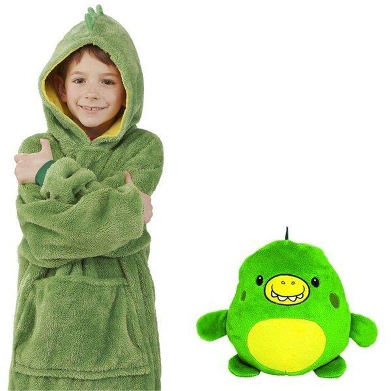 Huggle Pets Hoodie Dinosaur Hooded Sweatshirt Warm Winter Hooded