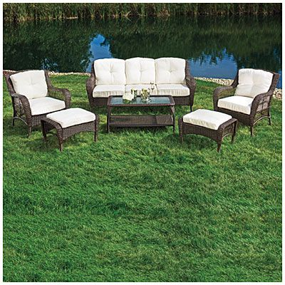 Wilson Fisher Patio Furniture Cayman 6 Piece Deep Seating Set