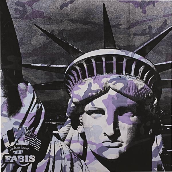 Andy Warhol Statue Of Liberty 1986 Synthetic Polymer And Silkscreen Ink On Canvas Sold At 2 434 500 Andy Warhol Art Canvas Art Prints