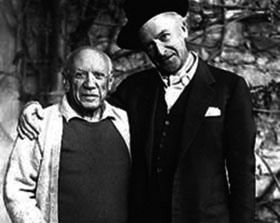 Beaton, a famous photographer and fashion designer, with the great artist, Picasso