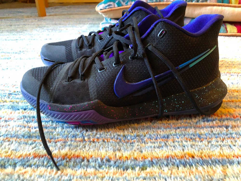 great fit 84563 067b2 Nike KYRIE Irving 3 FLIP THE SWITCH Size 10 Black/Royal Blue ...