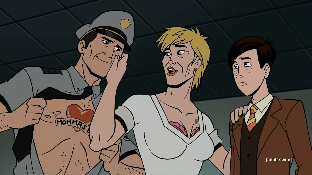 Goth Dean And His Maybe Mother In Venture Bros Go Team Venture