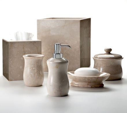 "Bathroom Accessories For Men botticino"" marble bath accessories, made in italylabrazel"