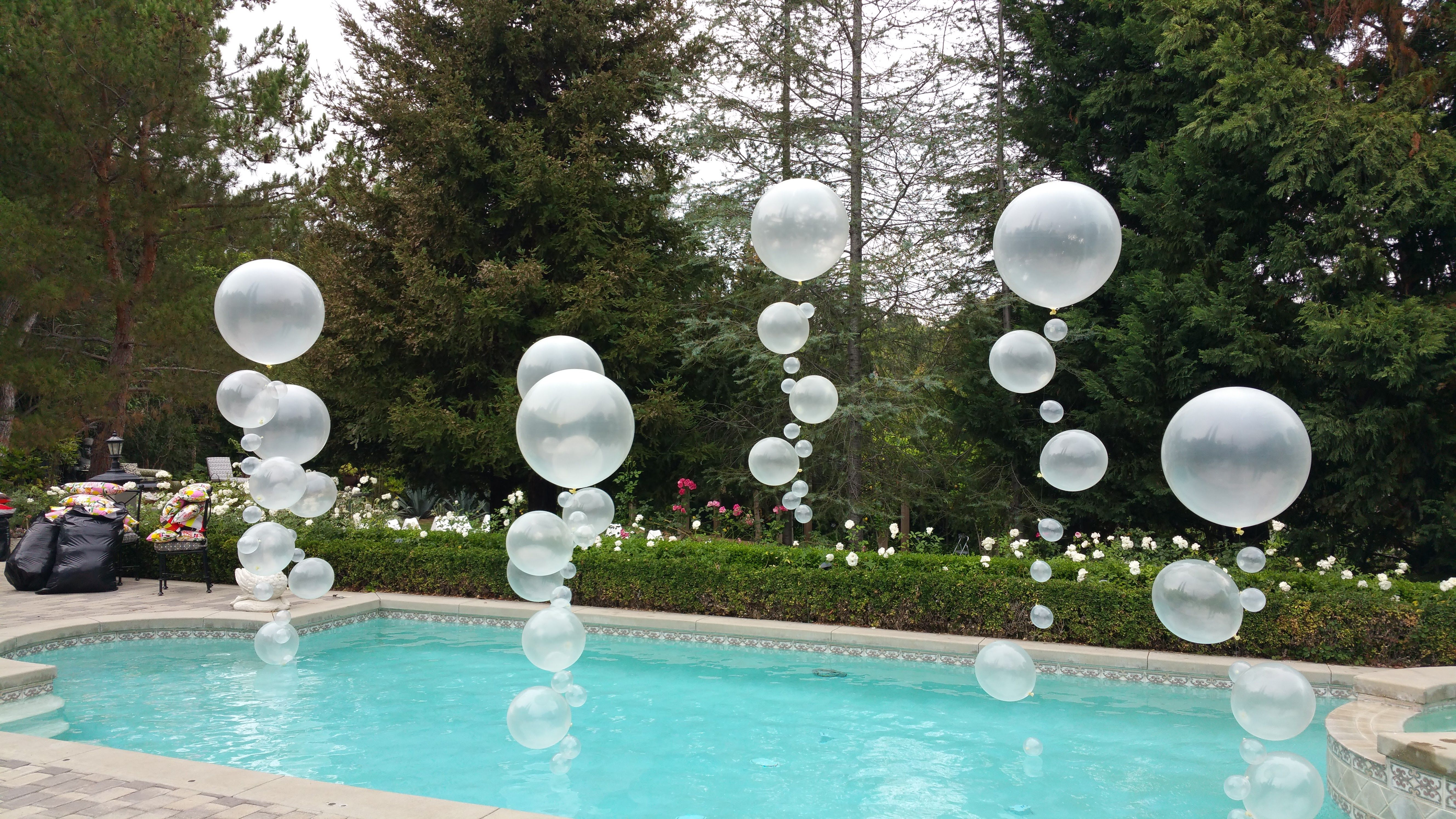Make A Splash By Adding Some Bubbles To Your Pool For Your Next