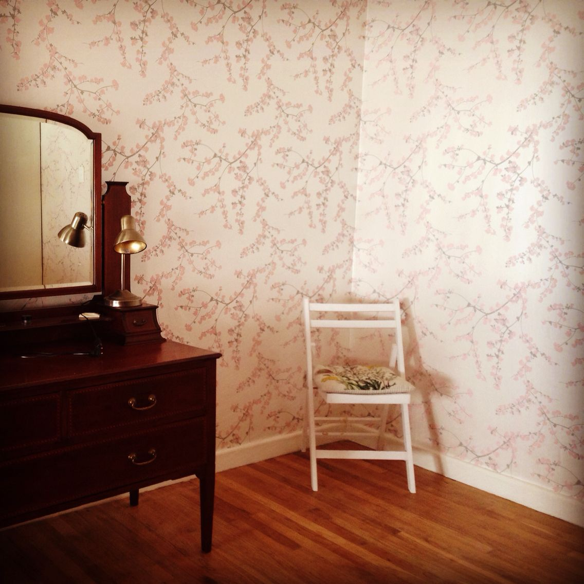 So Happy With My Fiona Wallpaper Nordic Blossom Single Vanity Vanity Wallpaper Bedroom wallpaper cape town
