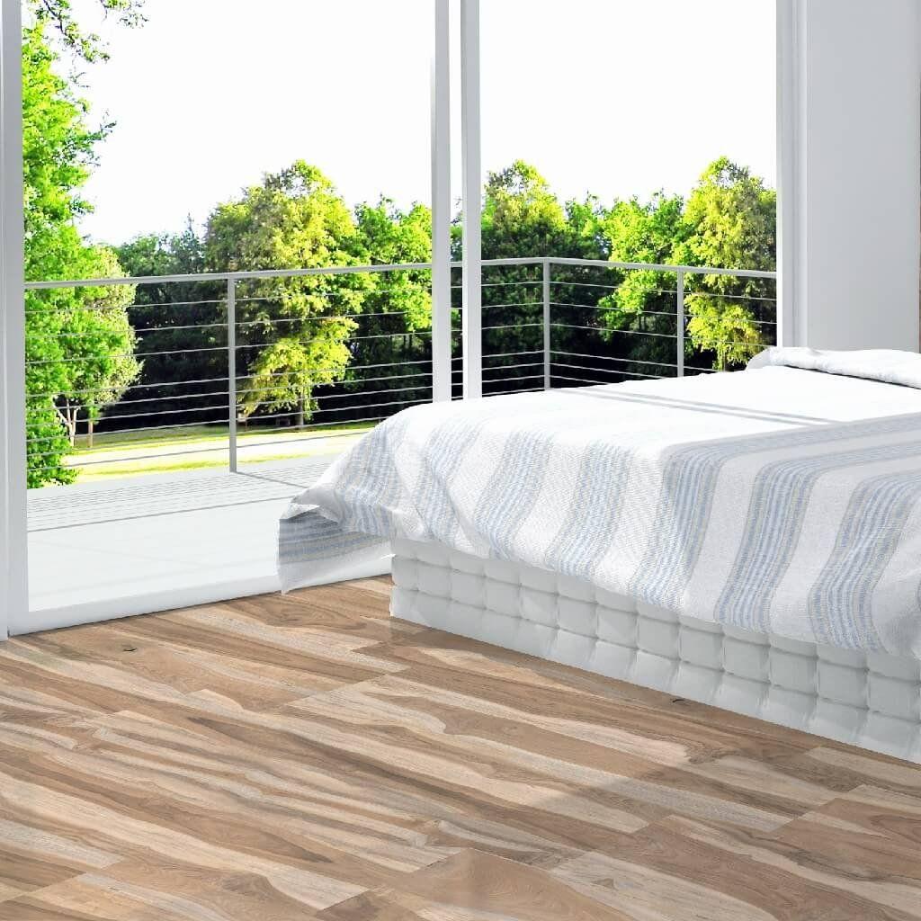Woodland Natural Wood Effect Floor Tiles In Bedroom With Underfloor Heating Bedroom Flooring Wood Effect Floor Tiles Flooring
