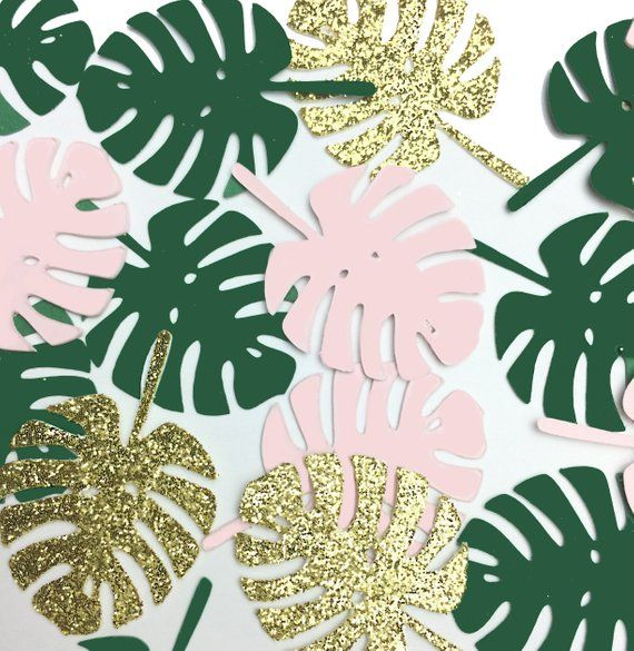 Tropical Monstera Leaf Confetti. Ideal for Baby Sh