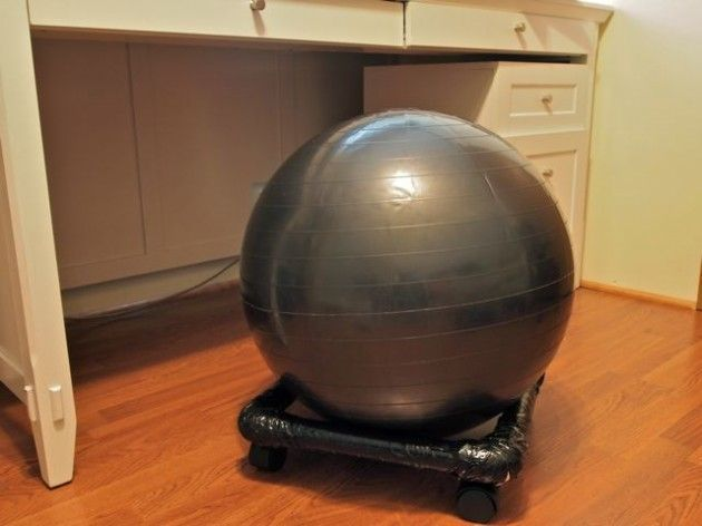 diy exercise ball chair