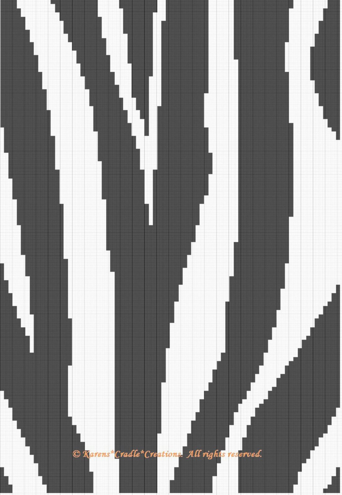 Crochet Patterns Zebra Print Graph Afghan Pattern Easy Products