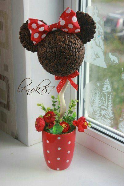Usa granos de caf para crear diversas manualidades muy - Decoracion navidena artesanal ...