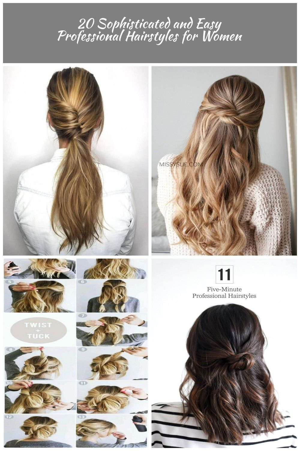 20 Sophisticated And Easy Professional Hairstyles For Women Professional Hairstyles 20 So Professional Hairstyles For Women Hair Styles Professional Hairstyles