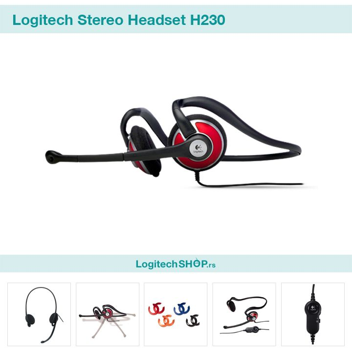Logitech H230 Stereo Headset Logitech Headset Stereo