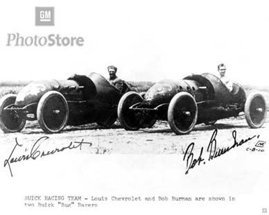 The Famous 1910 Buick Bug Racer Bob Burman And Louis Chevrolet