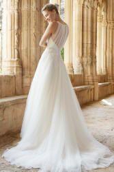Brudekjoler 2015 - Malta med dyb ryg og mellemlangt slæb.