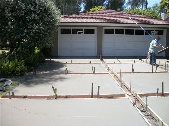 concrete driveway designs google search