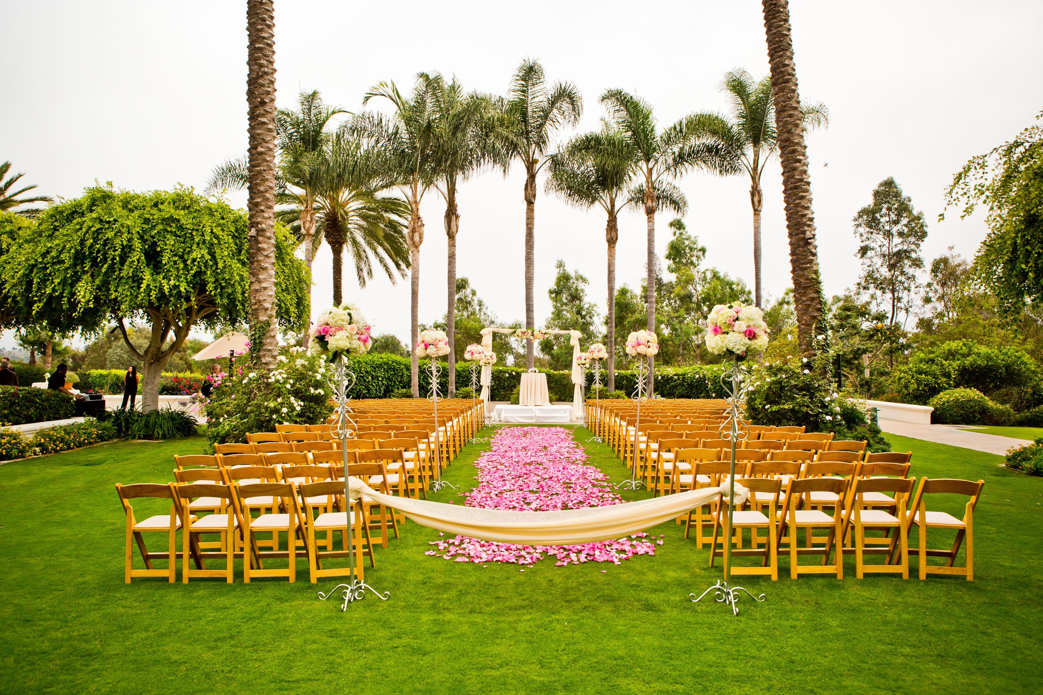 Palm Courtyard GardenCeremony ParkHyattAviaraWeddings