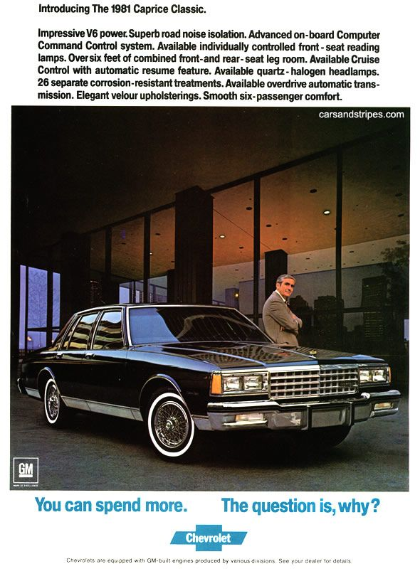 1981 Chevrolet Caprice Classic 4 Door Sedan Chevrolet Caprice Caprice Classic Chevrolet
