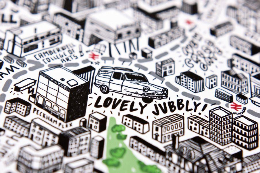 Hand Drawn Map of London - Jenni Sparks