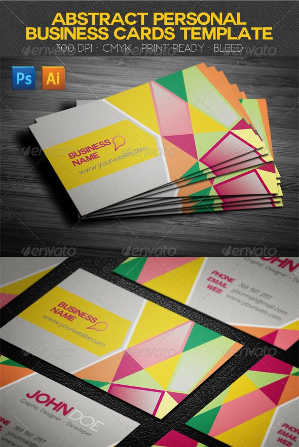 Abstract business cards template perfect for your own business abstract business cards template perfect for your own business freelance and personal presentation card well organized fully flashek Images
