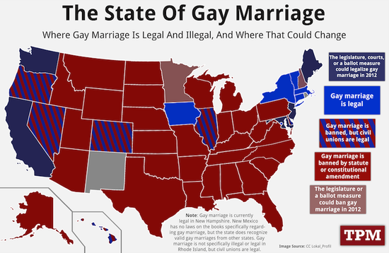 State Of Gay Marriage Politics By The Numbers Pinterest Gay