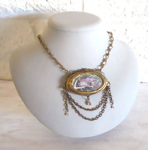Cheshire Cat Necklace Tea Party Jewelry