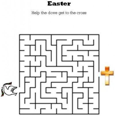 Easter Maze | Easter worksheets, Easter kids, Easter colors | 411x400