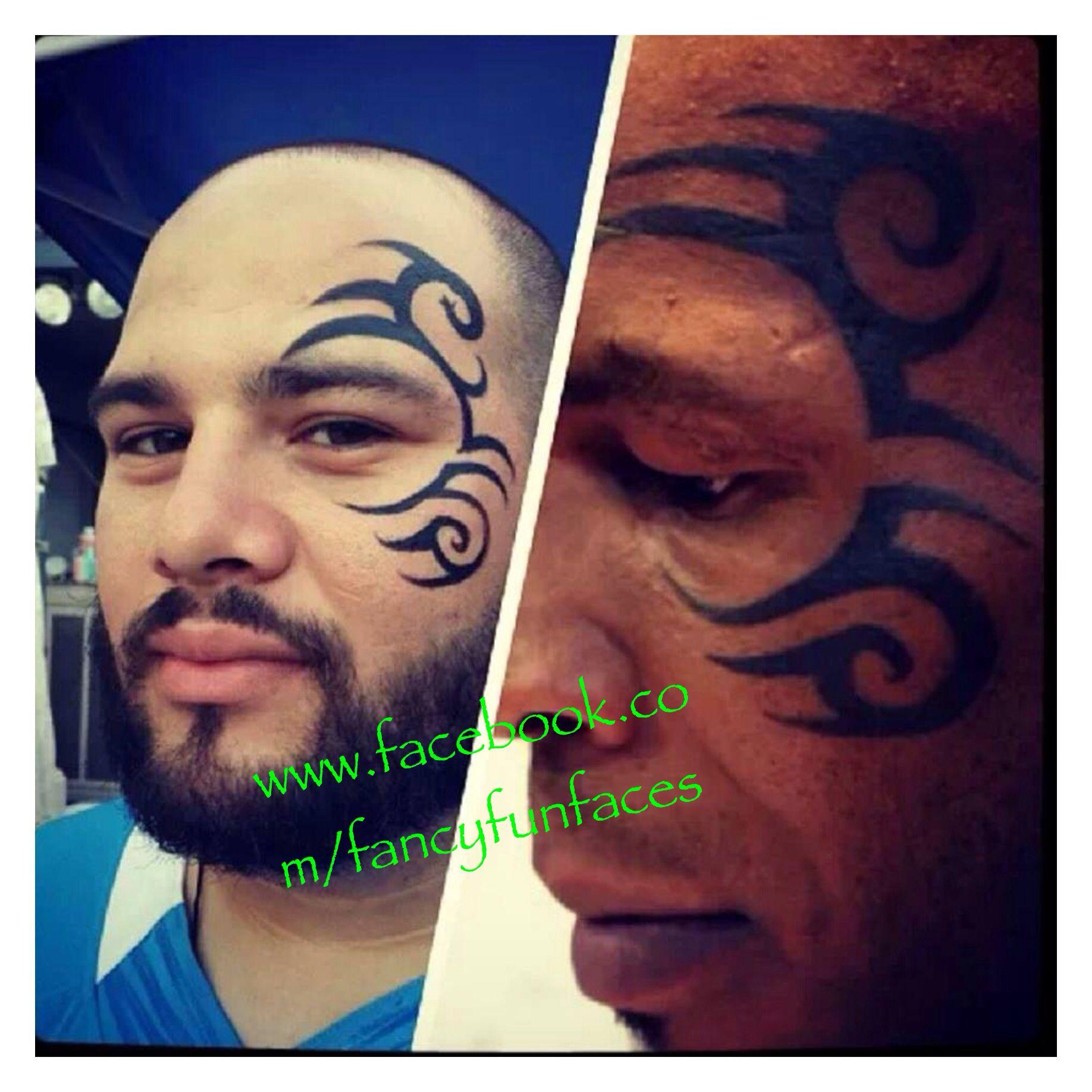 c3043c593 Replica of Mike Tyson face tattoo   Fancy Fun Faces by Yolanda ...