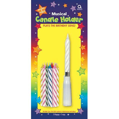 Happy Birthday Musical Candle Holder With Candles