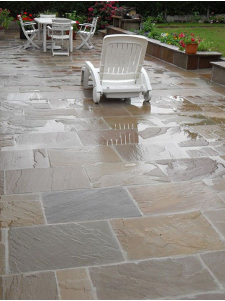 Royale Stones, Economy Indian Sandstone Paving Autumn Brown Patio Pack    15.30 M2 Per Pack