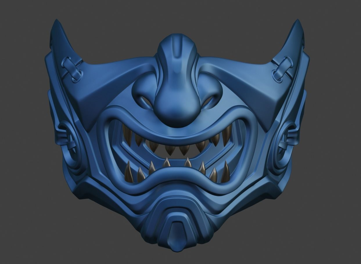 Sub Zero Samurai Mask For Face Mortal Kombat 11 Injustice 2 3d Print Model Samurai Mask Helmet Concept