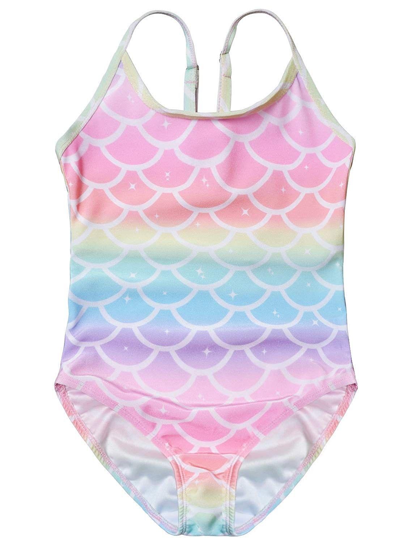 Girls Printed unicorn swimming suit Bikini Swimsuit Swimwear Bathing 3-10 years