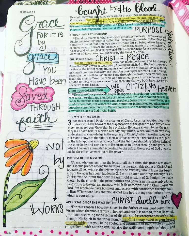 Tonya Andrews HKC Bible Journaling Ephesians 2