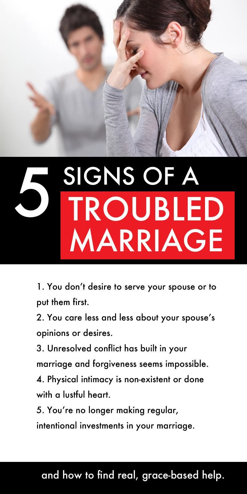 warning signs of a troubled marriage