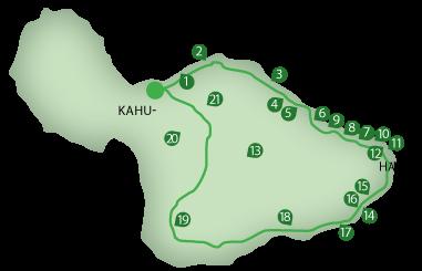 Mile markers on the road to Hana- very helpful   Maui Hawaii ...