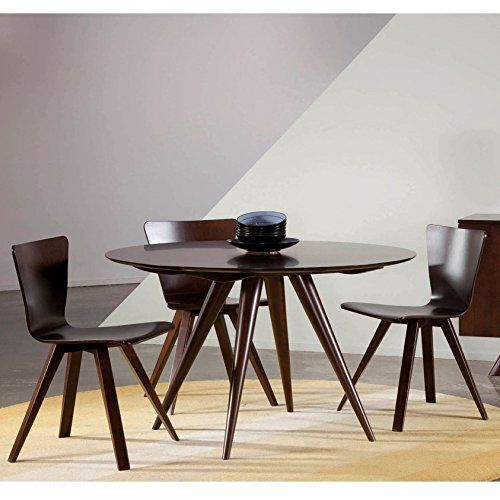 48 inch dining table set saloom furniture iris 48inch round maple strata top custom dining table in java finish brown