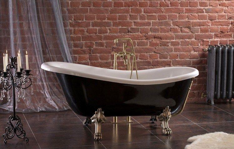 Baignoire patte de lion pour anoblir la salle de bains moderne   Baignoire  patte de lion, Salle de bains moderne, Salle de bains chics