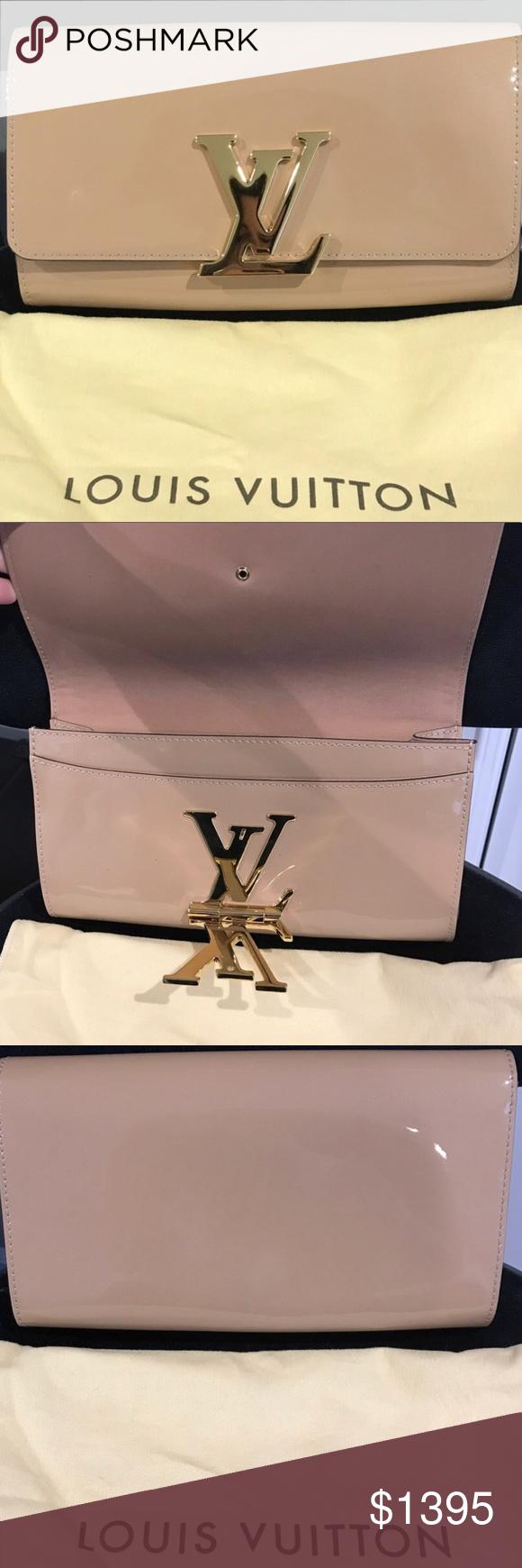 f2ff5d884de4 Louis Vuitton Louise EW Clutch Nude Patent Leather Excellent condition