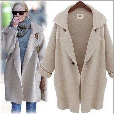 Women's long sweater coat with hood