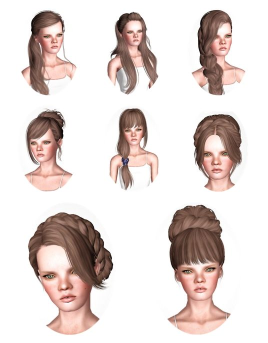 Skysims Hair Dump Part I By Wicked Sims 3 Downloads Cc Caboodle