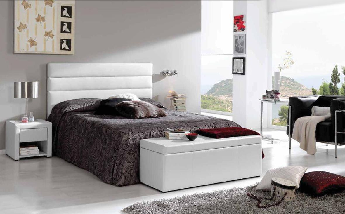Cabeceros tapizados de polipiel modelo murcia decoracion - Dormitorios con cabeceros tapizados ...