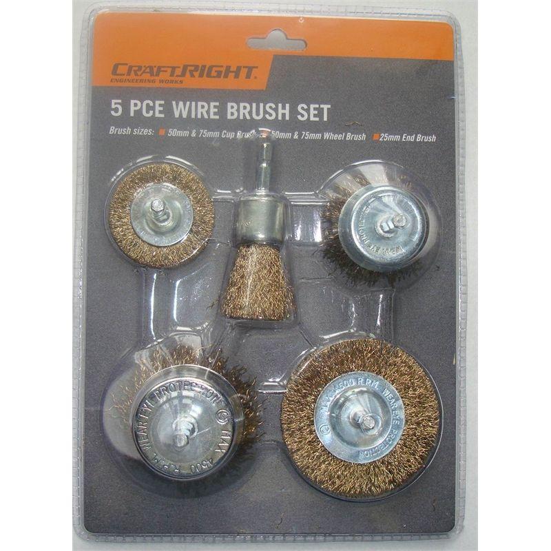Craftright 5 Piece Wire Brush Set Wire Brushes Brush Set Wire Wheel