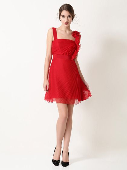 Valentino  Silk Chiffon Pleated Ruffle Dress  $1,790.  Oh, what would I do if I could afford a dress like this?