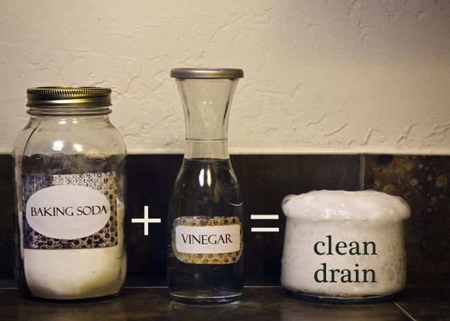 Pour 1/2 cup baking soda and then 1/2 cup of vinegar.  Cover up the drain during the crazy chemical reaction.  Wait 15 mins and pour a pot of boiling water.  It totally clears up the clogged drain   and it's easier on the pipes than Drano.